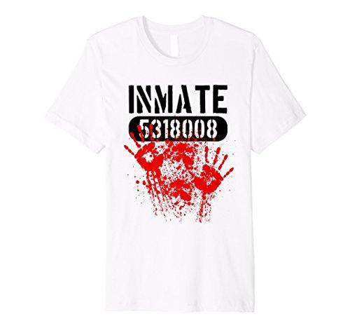 BLOODY Inmate Jailbird Horror Halloween-Kostüm T-Shirt