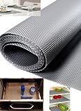 AADYA Multipurpose Textured Super Strong Anti-slip Eva Mat - For Fridge, Bathroom, Kitchen, Drawer, Shelf Liner, Size Full 45x500CM Length(color Random)
