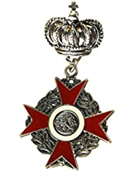 Fenical Buckles Brooch Crown Queen Medal Badge Corsages Hijab Pin Brooch for Women Men