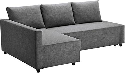 HomeTown Market Heavy Duty algodón Gris Claro friheten sofá Funda de Recambio es Fabricada a Medida para IKEA friheten Esquina sofá Cama con Chaise, o seccional Funda Protectora