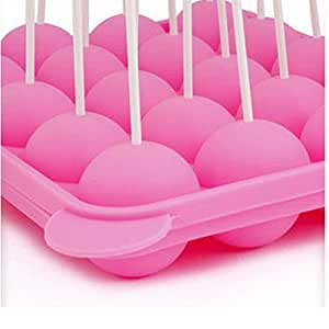 LYNCH 1PCS 20 Slots Mold + 25PCS Bâtons Pop Mold Baking Tray silicone gâteau Outils