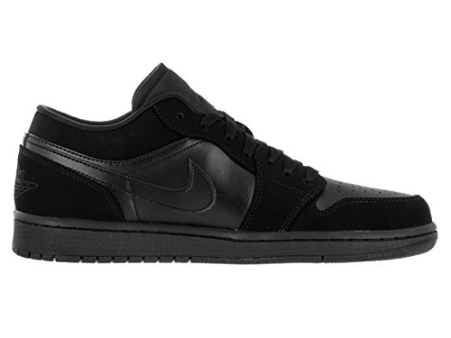 Nike Mens Air Jordan 1 Low Leather Trainers Schwarz