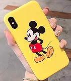 Générique Coque iPhone XS Max Mickey Minnie Mouse Retro Effet Silicone Souple Jaune