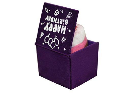 Lilone Happy Birthday Music, Square Shape, Birthday Gift For Him / Her (Purple)