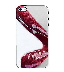 Fuson Designer Back Case Cover for Apple iPhone SE (Wet lips theme)