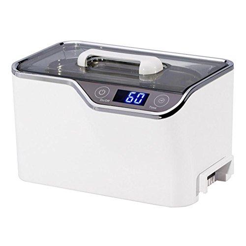 600ml Ultraschallreiniger Schmuck mit Digital Timer Kühlung Ventilator zum Reinigung Brille, Ohrring, Ringe, Halsketten, Rasierer, Werkzeuge, Teile