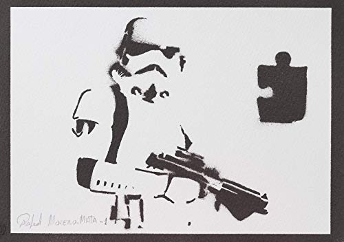 Stormtrooper STAR WARS Poster Plakat Handmade Graffiti Street -