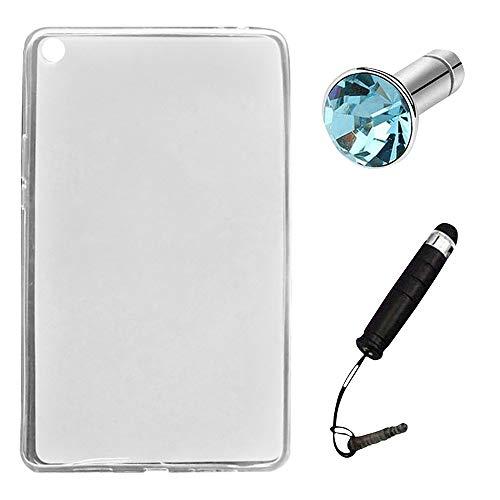 Lusee Silikon TPU Hülle für Xiaomi Mipad 4 Plus/Mi Pad 4 Plus 10.1 Zoll Schutzhülle Case Protektiv Silicone weiß halb-transparent - Silicon Protector Case