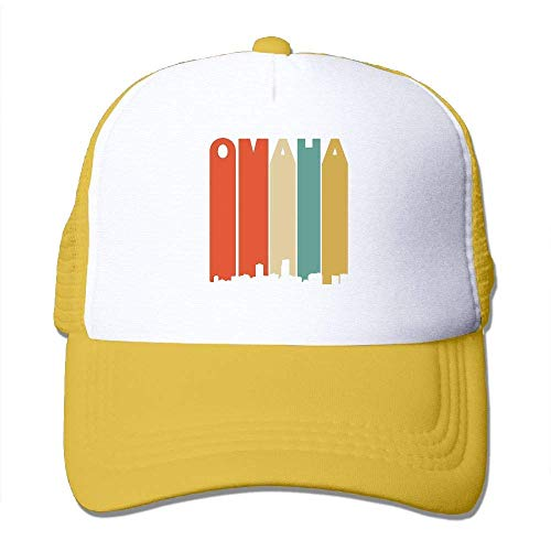 Voxpkrs Vintage 70er Jahre Stil Omaha Nebraska Skyline Männer Frauen Einstellbare Baseballmützen Sport Tag Hut Waschen Flache Kappe Q8S3S616
