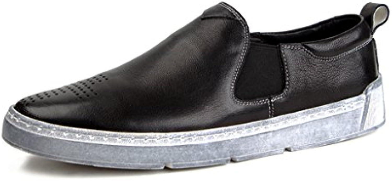 Herren Lederschuhe Frühling Herren Lederschuhe Britischen Stil Freizeit Runde Kopfliege Einzelne Schuhe Herrenschuhe