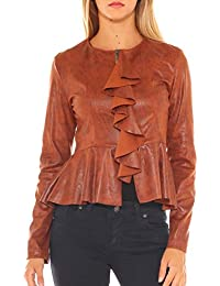 Di Giacca it Key Abbigliamento Ecopelle Amazon zROpqz