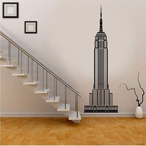 Lsfhb Moderne Wohnkultur New York City Empire State Building Wandtattoo Vinyl Wohnzimmer Dekoration Aufkleber Entfernbare Tapete 21X66 Cm