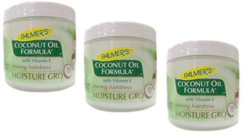 3x Palmers Palmer's Coconut Oil Formula Moisture Gro Shining Hairdress 150g (insgesamt - 450g)