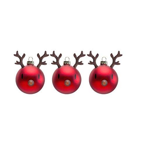 Hoptimist Mini Blitzen Christmas Ornament, Weihnachtskugeln, Weihnachten, Rentier, Dekoration, Glas, 90012-40