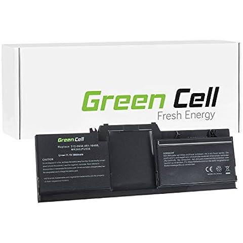 Green Cell® Standard Serie Batteria per Portatile Dell Latitude XT2 Tablet PC (6 Pile 3800mAh 11.1V Nero)