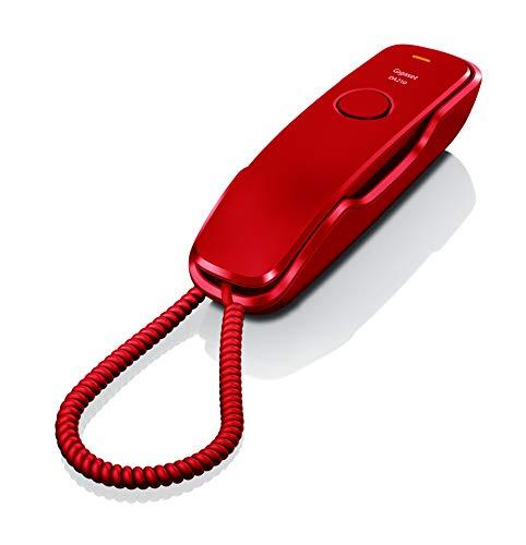 Gigaset Teléfono Fijo con Cable DA210, Color Rojo.