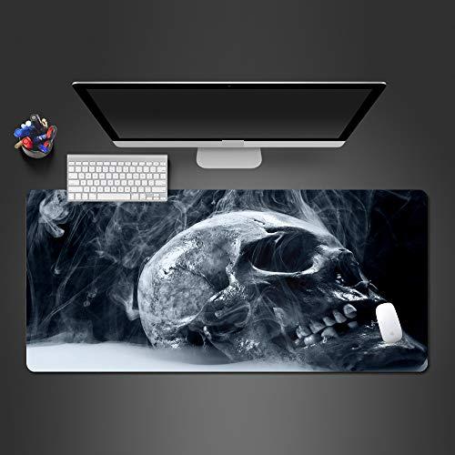 HONGHUAHUI Super Cool Ice Skeleton Mauspad Rubeer Waschbar Gaming Computer Tastatur Mauspad Gamers Für Beste Geschenke,900x400x2MM -