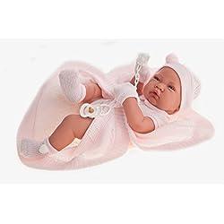 Antonio Juan Antonio Juan-5064 Muñeca recién Nacido con toquilla Color Rosa 132-5064