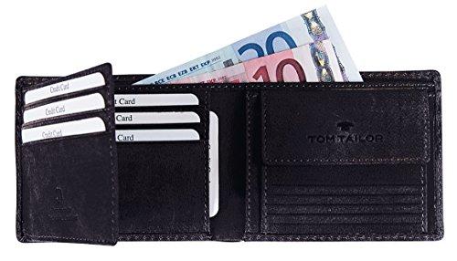 Tom Tailor Acc LUCA 17303 Herren Geldbörsen 11x8x2 cm (B x H x T) Schwarz (schwarz 60)