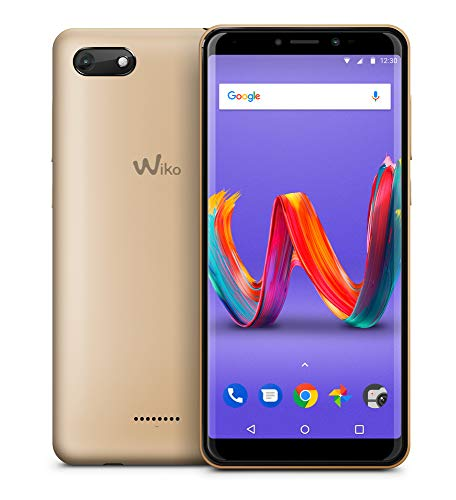 Wiko Harry2 - Smartphone Dual SIM de 5.45' (4G, Quad Core 1.3 GHz, RAM de 2 GB, memoria de 16 GB, cámara de 13 MP, Android 8.1) color oro