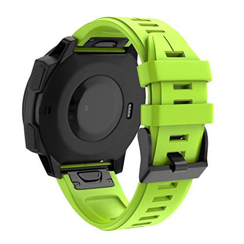 QHJ Armband Für Garmin Forerunner 945,Uhrenarmbänder Silikon Quick Release Soft Rubber Ersatz Uhrenarmbänder für Männer und Frauen, Mehrere Farben (Grün) Garmin Forerunner Quick Release