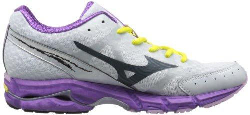 Mizuno Wave Rider 17 Schmal Maschenweite Laufschuh White/Charcoal/Purple