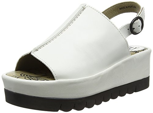 FLY London Bora611fly, Sandales Compensées femme Ivoire (Offwhite 004)
