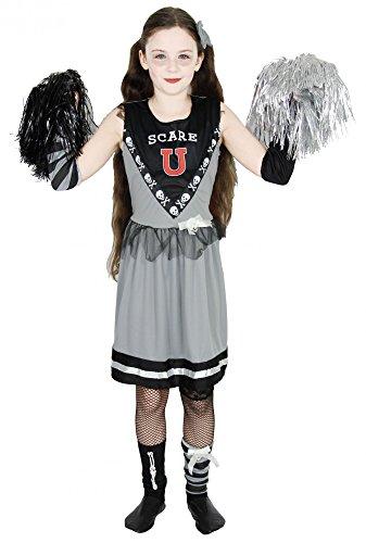 Foxxeo 40243 I Zombie Cheerleader Halloween Kostüm Mädchen Kleid Blut Zombiekostüm Gr. 110 - 152, ()