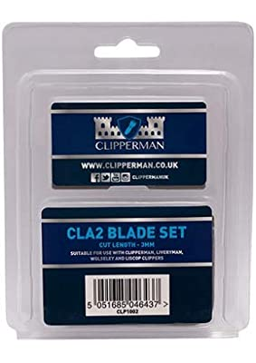 Clipperman CLA2 German Steel Blade Set, Clear Pack from Clipperman