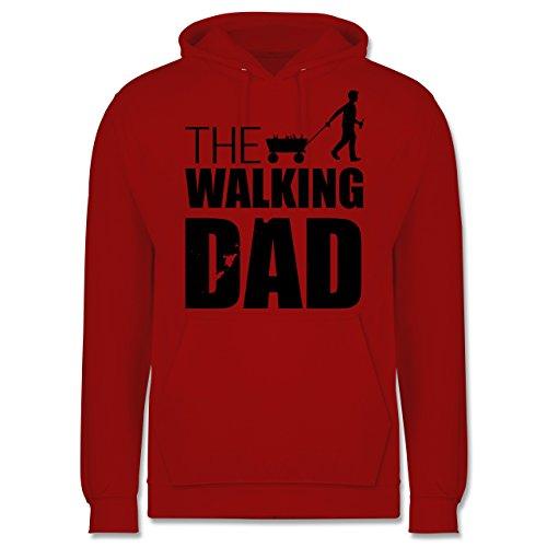 Vatertag - The Walking Dad - Vatertag - Männer Premium Kapuzenpullover / Hoodie Rot