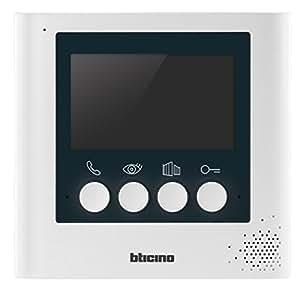 BTicino 332253 Display Aggiuntivo 4.3 Pollici per Kit Videocitofonici 2 Fili, Bianco Perla