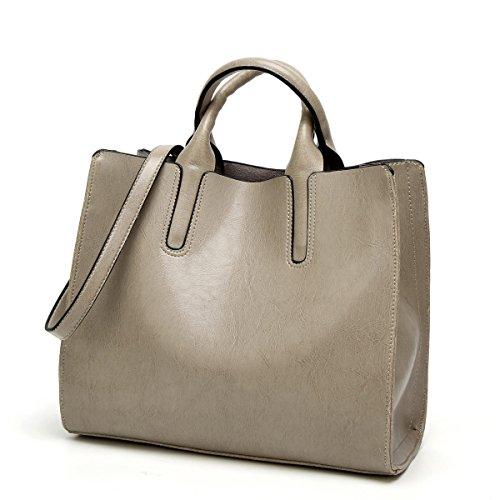 ZPFME Frauen Handtasche Tragbar Einfach Kollokation Umhängetasche Mädchen Party Retro Damen Mode Messenger Bag Handtasche Damen Tasche Geschenk Gray