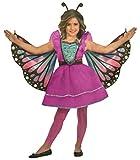 Brandsseller Mädchen Kostüm Verkleidung Fasching Karneval Party - Schmetterling in verschiedenen Größen erhältlich (Small (4-6 Jahre), Schmetterling/Pink)