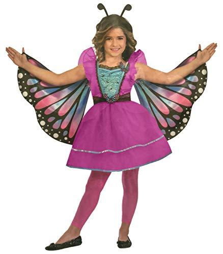 n Kostüm Verkleidung Fasching Karneval Party - Schmetterling in verschiedenen Größen erhältlich (Small (4-6 Jahre), Schmetterling/Pink) ()