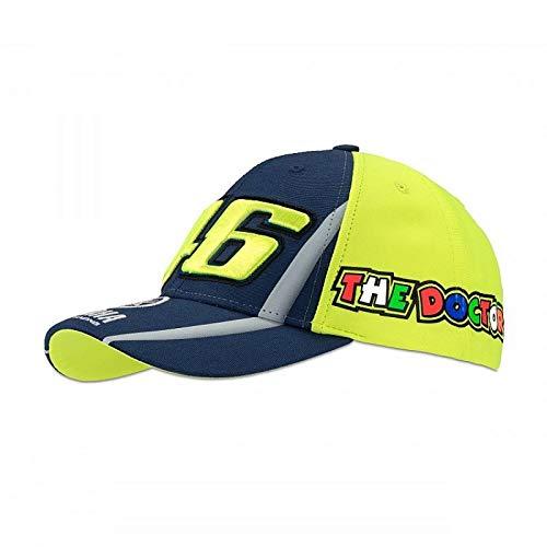 Cappellino berretto cappello frontino Kid Bambino Ragazzo Yamaha VR46 Valentino Rossi originale ufficiale MotoGP YZR M1 diapason logo giallo blu collezione factory racing
