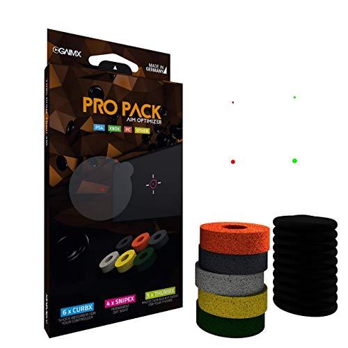 GAIMX PRO-PACK aim optimizer - CURBX Probierset (5 Stärken), SNIPEX (4 Visiere) und THUMBX (5 Stück) - Playstation 4, Xbox One und Xbox 360 Zubehör -