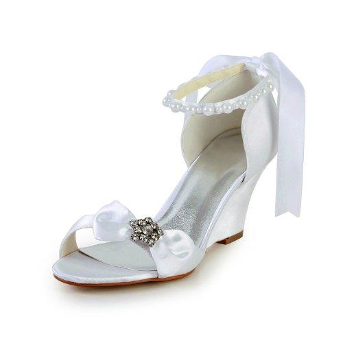 Jia Jia Wedding 121756 Chaussures De Mariée Blanc Femme Talons
