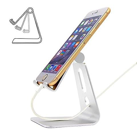 Support iPhone, hotor multi-angle en aluminium Support universel smartphone tablette, liseuse électronique