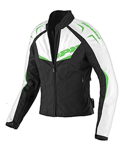SPIDI Chaqueta Moto en Tejido NW 200 Tex Lady, Negro/Verde, M