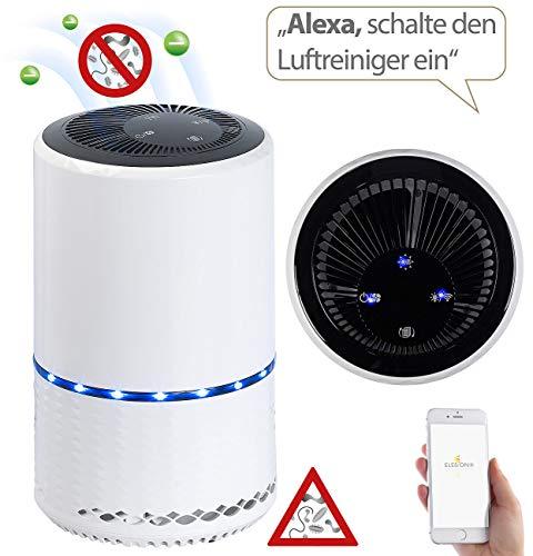 Sichler Haushaltsgeräte Luftreiniger Ionisierer: Luftreiniger mit Ionisator, 2in1-Luftfilter, WLAN und App, bis 30 m² (Ionen-Luftreiniger Steckdose)