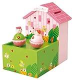 Ragazza denaro mondo 43822 music box - Melodia: Per Elisa - Misure (cm): 14,5 x 10 x 15 cm - Materiale: Legno/Metallo - Carillon