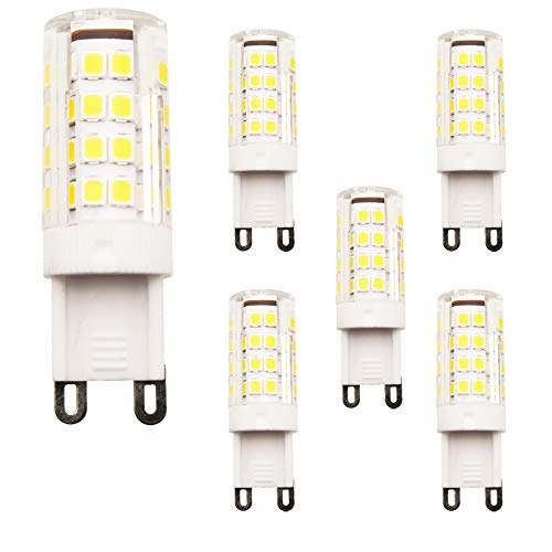 5er Pack G9 2.5W LED Lampen, 51XSMD 2835 LED, 240LM, Ersatz für 20W Halogenlampen,220V AC, Warmweiß,360°Abstrahlwinkel,Silikon Gehäuse Leuchtmittel LED Birnen