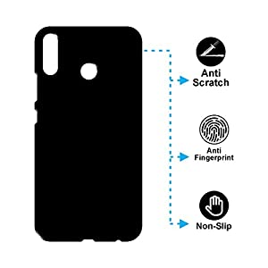 "Case Creation TM New Premium Quality Imported Exclusive Matte Rubberised Finish Frosted Hard Back Shell Case Cover Guard Protection for Asus Zenfone 5z ZS620KL / ZenFone 5 (ZE620KL) / Asus Zenfone 5Z 6.2""inch 2018- PITCH BLACK"
