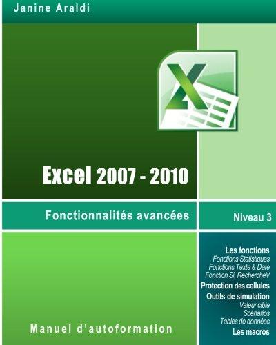 Excel 2007-2010 Fonctionnalités avancées