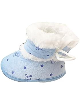 Zhhlinyuan Newborn Anti-skid Soft Bottom Boots Bebé Girl Snow Crib Shoes Booties