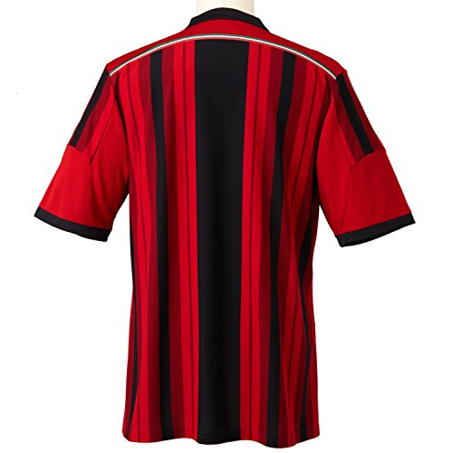 adidas Men s AC Milan Home Jersey - Black Victory Red Running White  Small