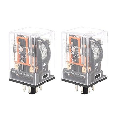 sourcingmap® Motor Control 8 Pin DPDT DIN Rail Electromagnetic Relay DC 24V Coil