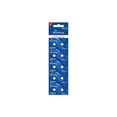 MediaRange Premium Alkaline Knopfzellen, AG1|LR621|1.5V, 10er Pack