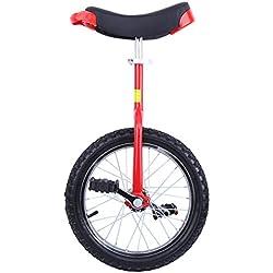 """Paneltech 16""""/ 20"""" Kid's/Adulte Formateur Monocycle Hauteur Réglable Anti-dérapant Butyl Montagne Pneu Équilibre Cyclisme Exercice Vélo Bike (20"""")"""
