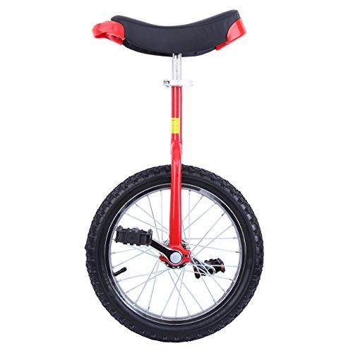 Paneltech 16'/ 20' Monociclo Entrenador para Chicos/Adultos Unicycle Altura Ajustable a Prueba de Deslizamiento Butyl Mountain Tire Balance Ciclismo Ejercicio Bicicletas